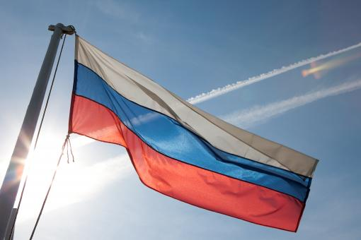 Free Stock Photo of Russian flag