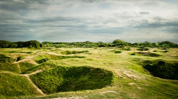 Free Stock Photo of D'day bomb craters