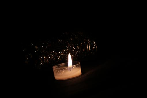 Free Stock Photo of Candle illuminated the darkness