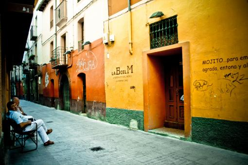 Free Stock Photo of Spanish colorful street