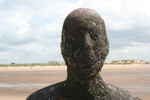Free Stock Photo of Anthony Gormley Statue