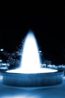 Free Stock Photo of Blue Glowing Fountain