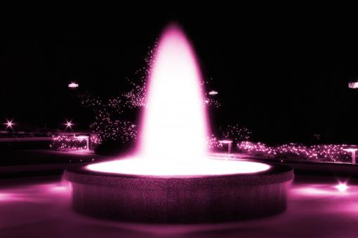 Free Stock Photo of Pink Glowing Fountain