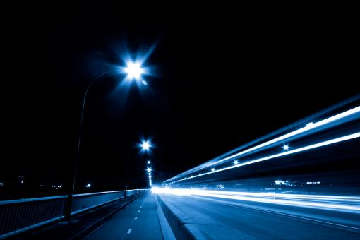 Free Stock Photo of Night Traffic Scene