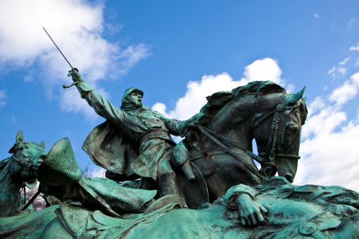 Free Stock Photo of Grant Cavalry Memorial