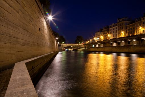 Free Stock Photo of Paris sur Seine Twilight
