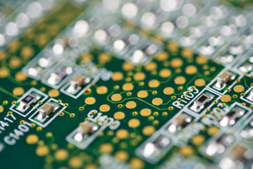 Free Stock Photo of Circuit Board Close-up