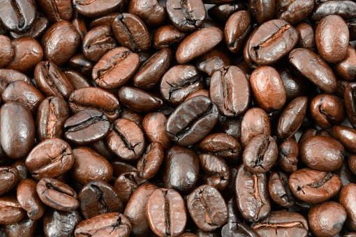Free Stock Photo of Coffee Beans Texture