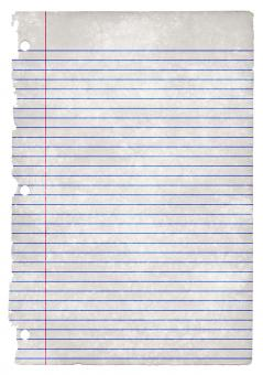 Free Stock Photo of College-Ruled Grunge Paper