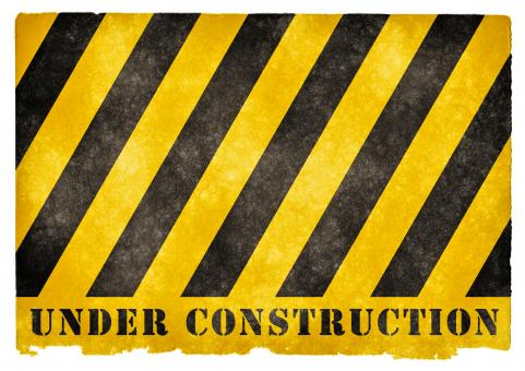 Free Stock Photo of Under Construction Grunge Sign