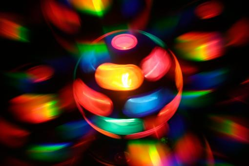 Free Stock Photo of Spinning Disco Lamp Abstract
