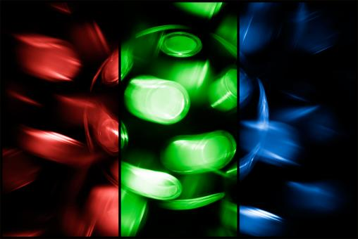 Free Stock Photo of Spinning Disco Lamp RGB