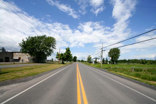 Free Stock Photo of Wide-Angle Rural Road
