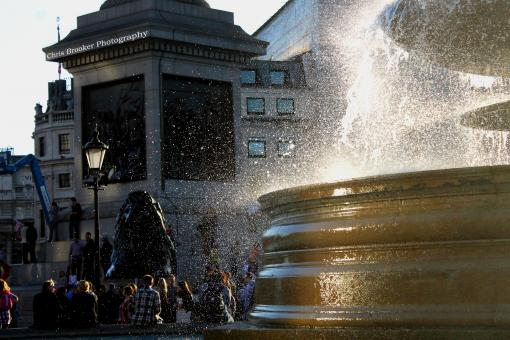 Free Stock Photo of Trafalgar Square Fountain