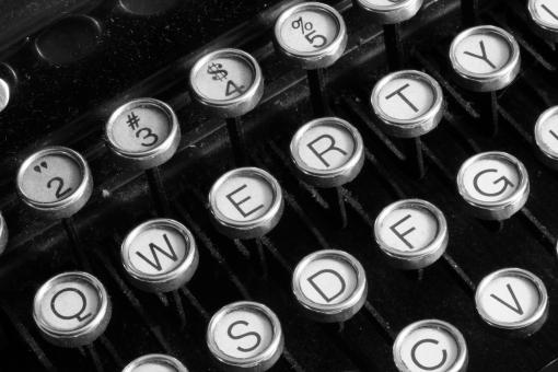 Free Stock Photo of Antique Typewriter Close-up