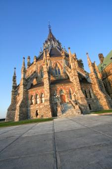 Free Stock Photo of Canadian Parliament Library - HDR
