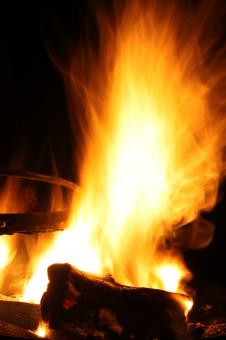 Free Stock Photo of Burning Campfire