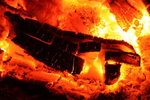 Free Stock Photo of Glowing Fire Embers