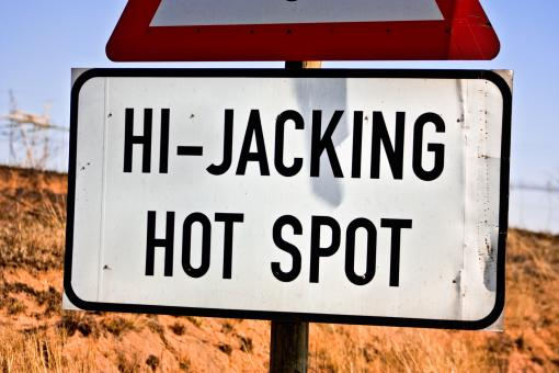 Free Stock Photo of Hi-Jacking Hotspot Sign