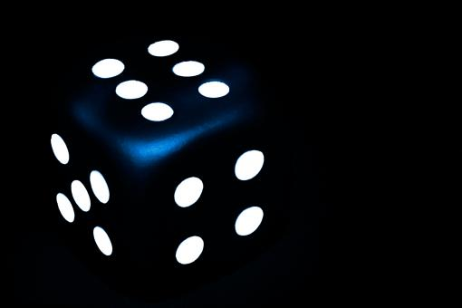 Free Stock Photo of Dark Blue Dice