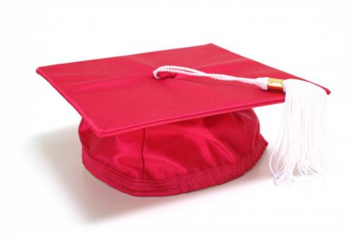Free Stock Photo of Red graduation cap
