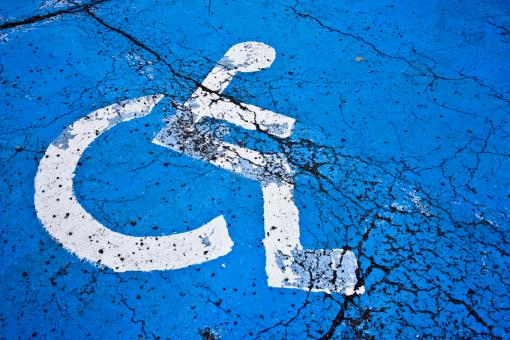 Free Stock Photo of Cracked Handicap Sign