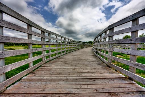 Free Stock Photo of PEI Country Bridge - HDR