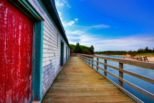Free Stock Photo of PEI Beach Boardwalk - HDR