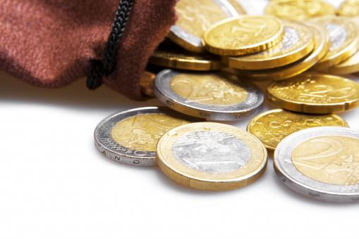 Free Stock Photo of Euro cents