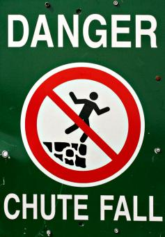 Free Stock Photo of Fall Danger Sign