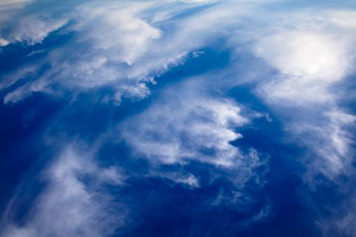 Free Stock Photo of Cloudy Blue Sky