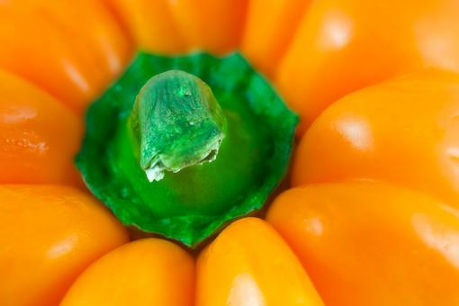 Free Stock Photo of Orange Pepper Macro