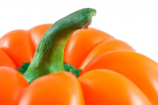 Free Stock Photo of Orange Pepper Close-up