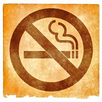 Free Stock Photo of No Smoking Grunge Sign