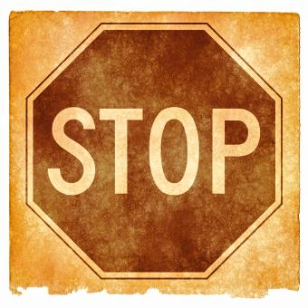 Free Stock Photo of Stop Sign Grunge