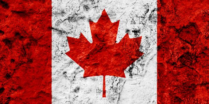 Free Stock Photo of Canada Grunge Flag