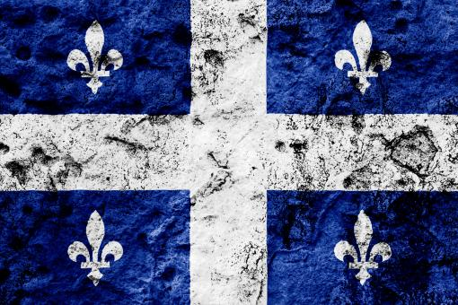 Free Stock Photo of Quebec Grunge Flag