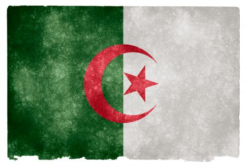 Free Stock Photo of Algeria Grunge Flag