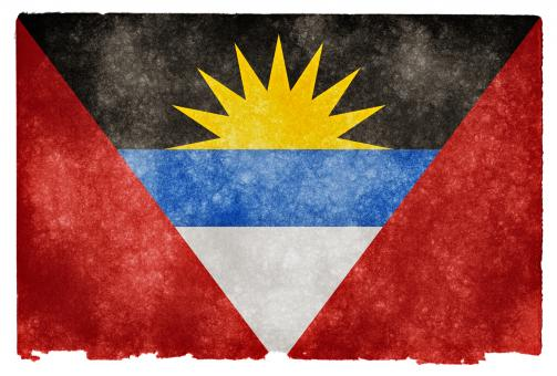 Free Stock Photo of Antigua and Barbuda Grunge Flag