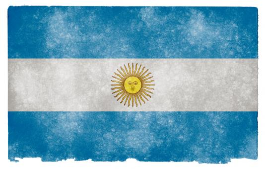 Free Stock Photo of Argentina Grunge Flag
