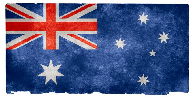 Free Stock Photo of Australia Grunge Flag