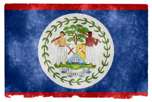 Free Stock Photo of Belize Grunge Flag