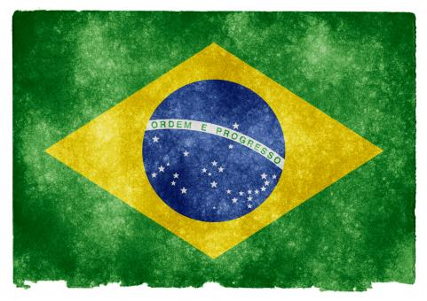 Free Stock Photo of Brazil Grunge Flag