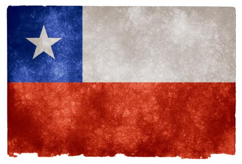 Free Stock Photo of Chile Grunge Flag