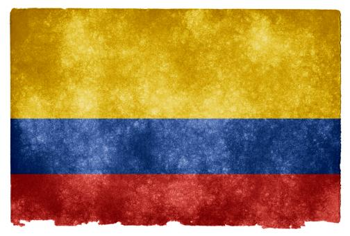 Free Stock Photo of Colombia Grunge Flag