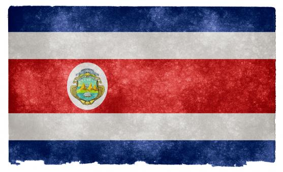 Free Stock Photo of Costa Rica Grunge Flag