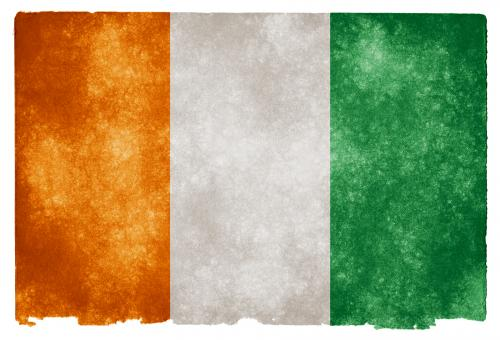 Free Stock Photo of Cote d'Ivoire Grunge Flag
