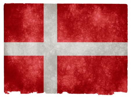 Free Stock Photo of Denmark Grunge Flag
