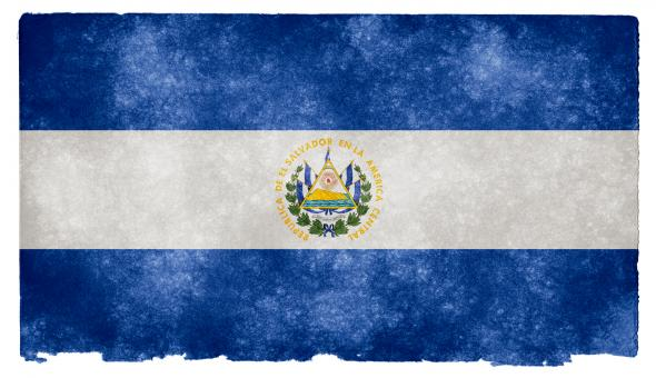 Free Stock Photo of El Salvador Grunge Flag