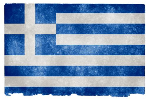 Free Stock Photo of Greece Grunge Flag